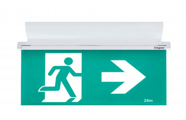 New From Legrand Legrand E2 Edgelight Exit Sign Axiom